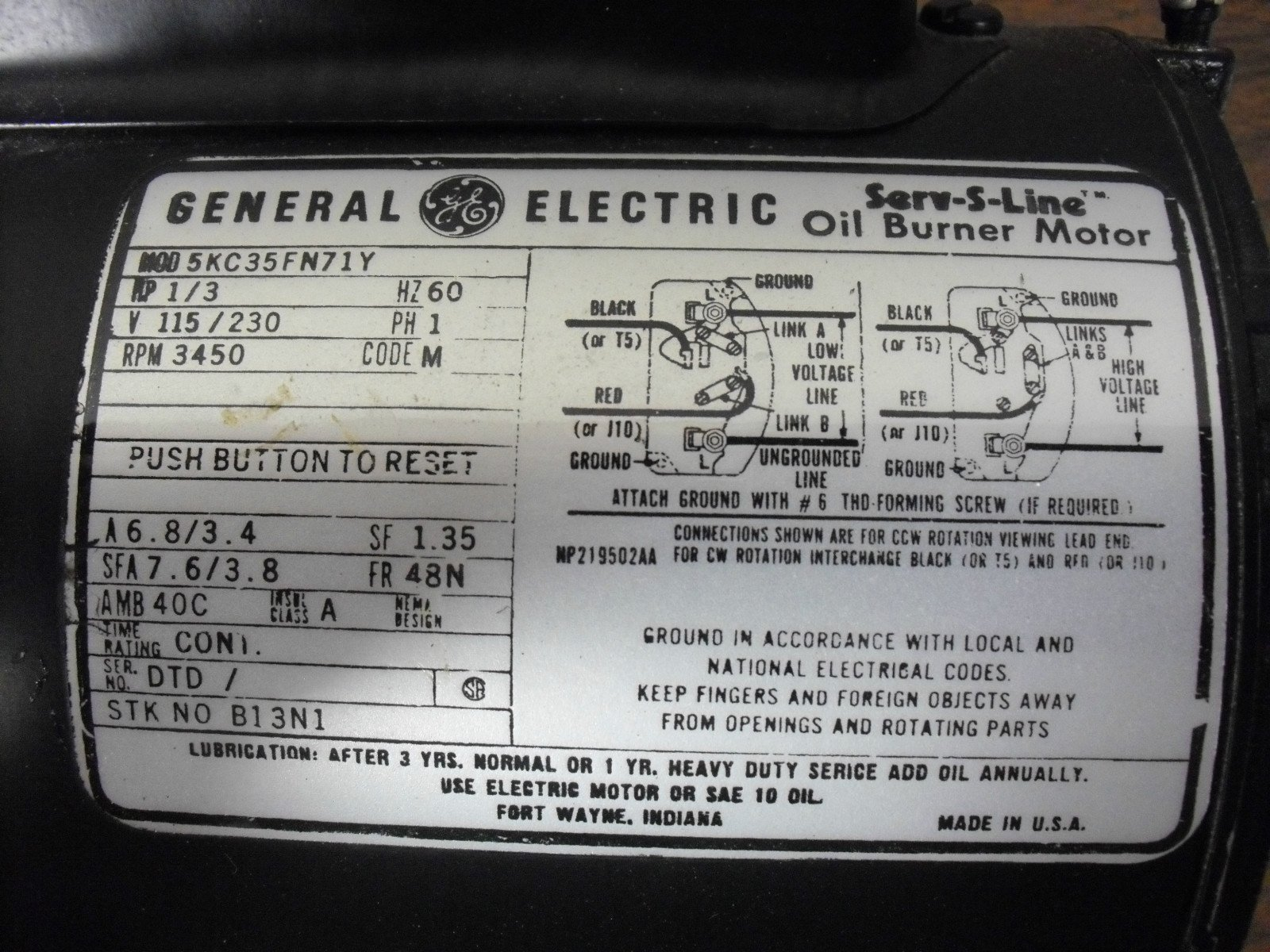 Wiring Diagram For Ge Motor 5kc35k6335